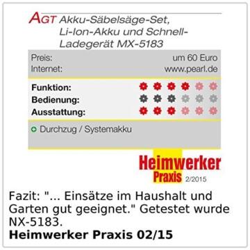 AGT Professional Akku-Säbelsäge AW-18